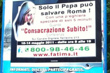 SOLO IL PAPA PUO' SALVARE ROMA?