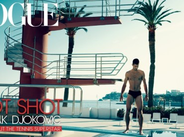 Novak Djokovic gnocco e in costume su Vogue