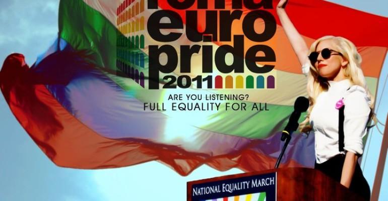 Finalmente E' EuroPride Roma 2011: ecco Lady Gaga sbarcare a Fiumicino