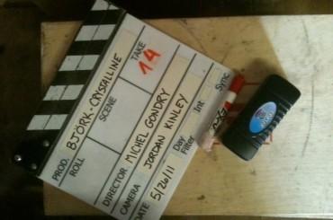 Bjork sul set di Crystalline con Michel Gondry!
