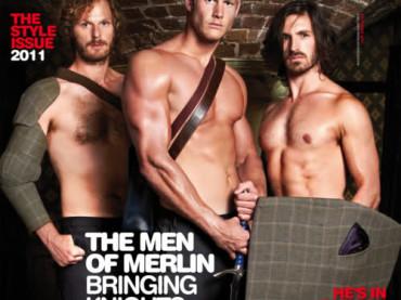 Gli uomini di MERLIN ignudi su Gay Times