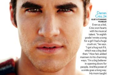 Darren Criss gnocco e bagnato su People: foto e video