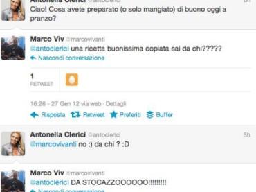 Antonella Clerici e la twittata 'stocazzata' dell'anno