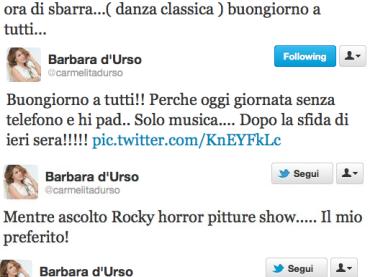 Barbara d'Urso le impareggiabili perle su TWITTER