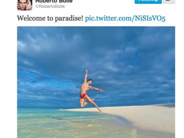 Roberto Bolle e il 'PARADISO' su Twitter…