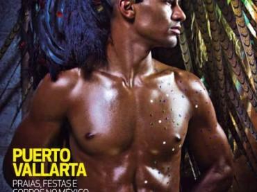 William Prazeres posa per il carnevale gay del mesile brasiliano A CAPA
