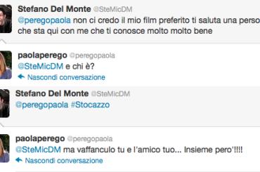 Stocazzata Paola Perego che reagisce: ma vaffanculo
