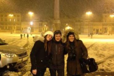 Gianni Alemanno, la Roma paralizzata dalla neve e la foto/cartolina da Piazza del Popolo