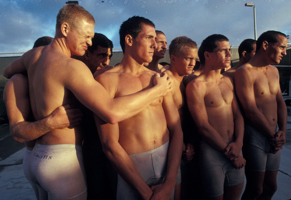 Naked army navy air force men