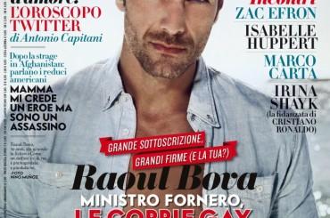 Raoul Bova su Vanity Fair: le coppie gay NON sono coppie di Serie B