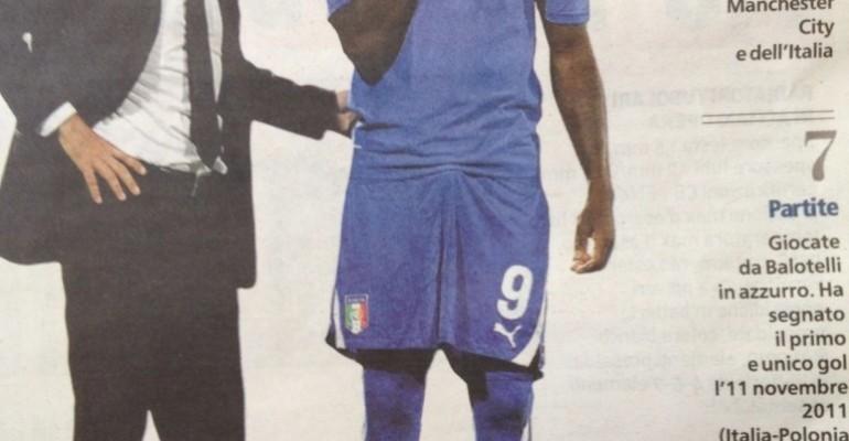 Pacco azzurro per Mario Balotelli