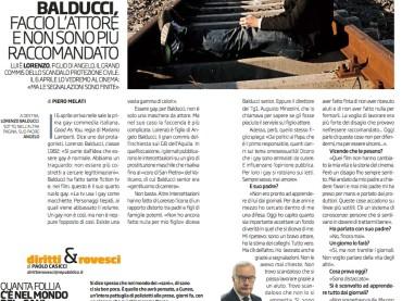 Lorenzo Balducci e il coming out su Il Venerdì de LaRepubblica