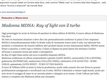Mario Luzzatto Fegiz esagera: MDNA è l'album più bello di Madonna (ma con sorpresa)