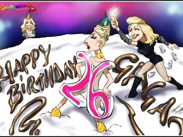 Happy Birthday Lady Gaga in un'unica vignetta