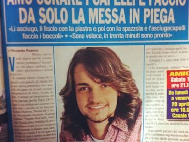 Valerio Scanu confessa: so mejo de na parrucchiera