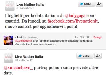 Lady Gaga NON farà altre tappe in Italia: sold out Milano