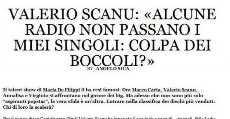 Valerio Scanu e il dubbio 'boicottaggio radiofonico': colpa dei boccoli?