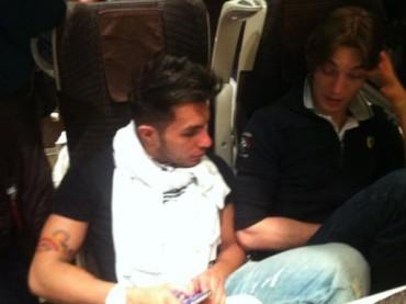 Marco Carta, Francesco Mariottini e il viaggio in treno l'uno al fianco dell'altro