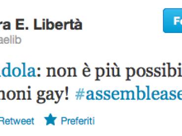 Finalmente Nichi Vendola: SI' ai matrimoni GAY
