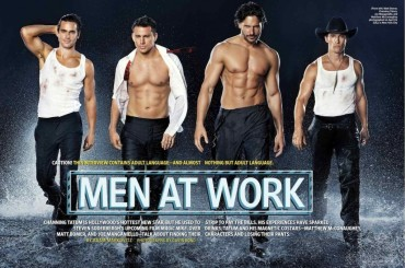 Il cast di Magic Mike si spoglia su EW: foto e video del backstage