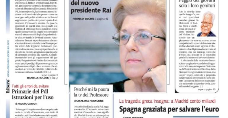 Gay Pride 2012, Bersani, grillini, Libero, omofobia e associazioni glbtq: appunti sparsi