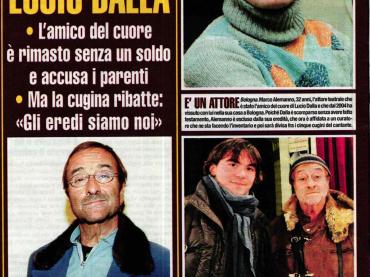 Il fidanzato di Lucio Dalla (Marco Alemanno) fatto fuori dall'eredità del cantante