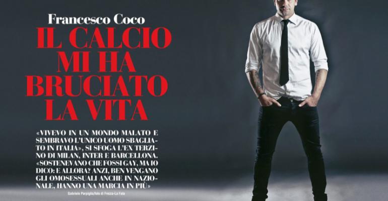 Francesco Coco su Chi: benvengano i GAY nel calcio