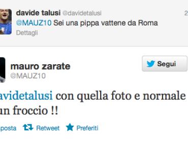 Mauro Zarate e la twittata omofoba