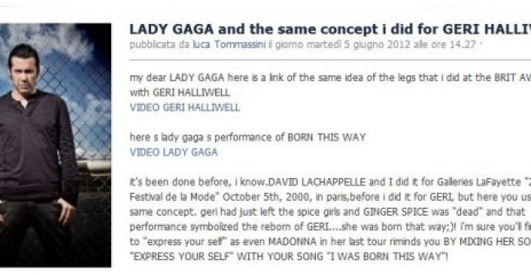 Luca Tommassini contro Lady Gaga: ha copiato ME e Geri Halliwell