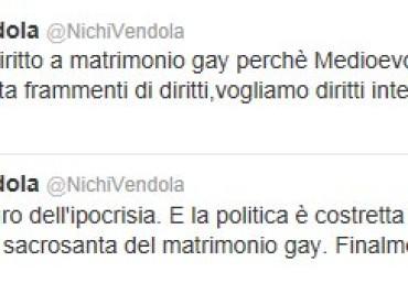 Nichi Vendola CONFERMA il suo SI' ai matrimoni gay