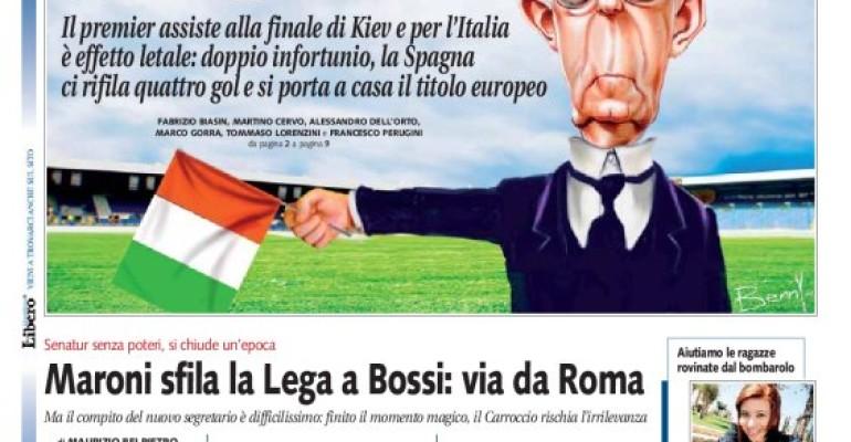 L'Italia perde l'Europeo? Monti porta Sfiga: parola di LIBERO