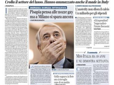 Il Giornale show: Pisapia pensa alle nozze GAY mentre a Milano si spara