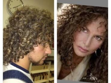 Valerio Scanu con i capelli di GIULIANA DE SIO