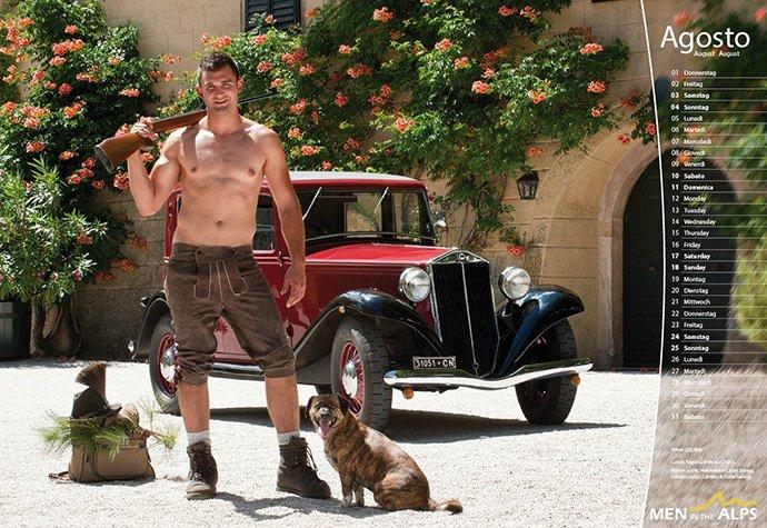 Men in the Alps 2013: foto e backstage dal calendario