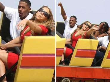 Mariah Carey sulle 'montagne russe' – le foto
