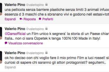 Valerio Pino annuncia via Twitter: arriva il mio film porno