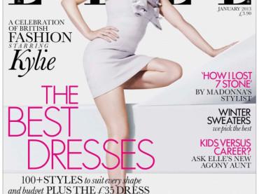 Kylie Minogue bionda, con un piede NEL culo ed irriconoscibile su ELLE
