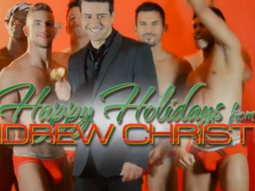 Chiappe di Natale per tutti con i modelli di  Andrew Christian