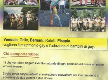 Volantino choc in provincia di Siena contro le adozioni gay