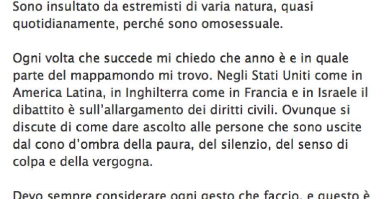 Nichi Vendola attacca la Roma di Alemanno: per i gay è pericolosa – e il Sindaco risponde così