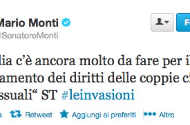 Se per Mario Monti i diritti dei gay vanno 'rafforzati'…