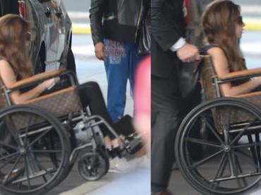 Lady Gaga cambia sedia a rotelle