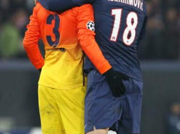 Gerard Piqué palpa Zlatan Ibrahimovic: perché il lupo perde il pelo…