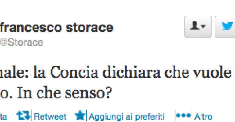 Francesco Storace 'ironizza' su Anna Paola Concia ed Emma Bonino su Twitter…