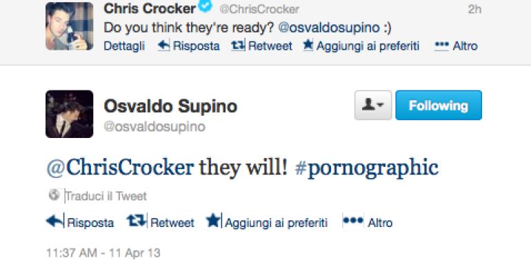 Chris Crocker porno (duetto) con Osvaldo Supino?