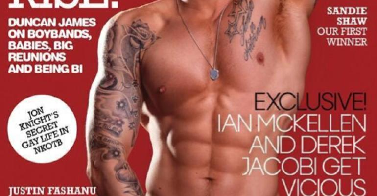 Duncan James è tanta roba su GAY TIMES