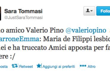 Valerio Pino su Twitter: Maria De Filippi ed Emma Marrone si amano – Amici manipolato