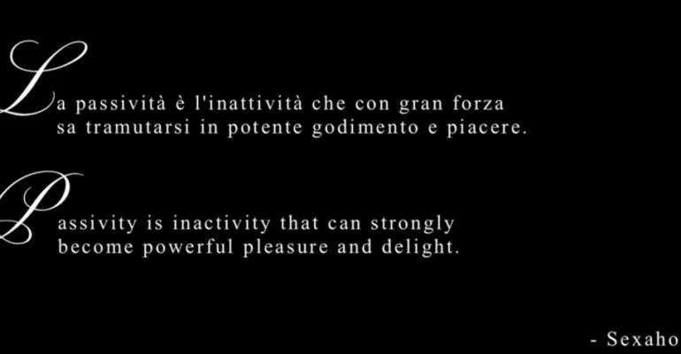 Passivity feat. Nicola Esagerato – arriva il manifesto dei passivi by Sexaholics (video)