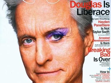 Michael Douglas 'truccato' su New York Magazine per Behind The Candelabra