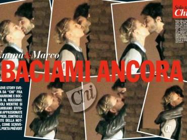 Emma Marrone bacia in bocca Marco Bocci: la foto via CHI
